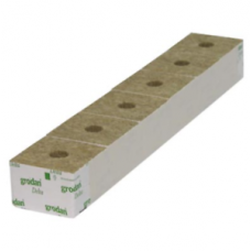"Grodan Rockwool Block 4"" strip of 6 Inch hole"
