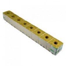"Grodan Rockwool block 3"" strip of 8 half inch hole"